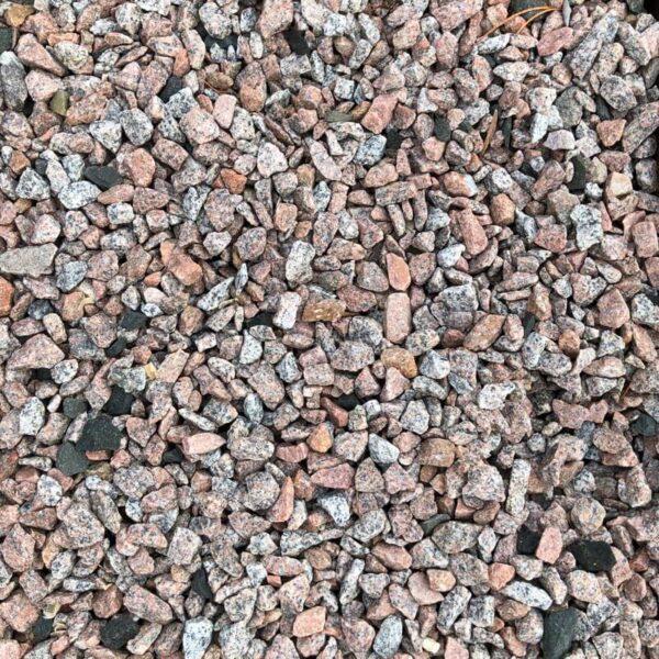 Granitskærver rød glensanda 8-16 mm tør