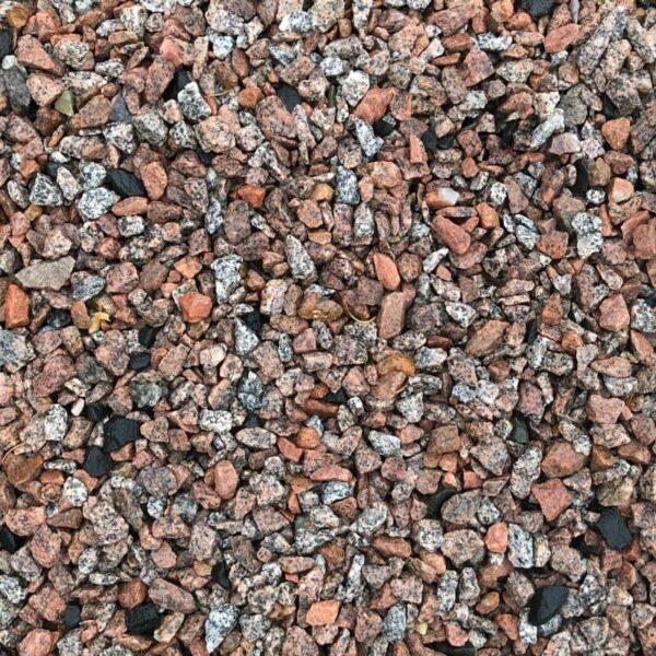 Granitskærver rød glensanda 8-16 mm våd