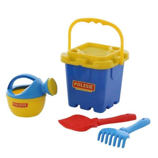 strandsæt med 5 stykker legetøj til sand