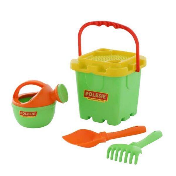 sæt med legetøj til sandkassen