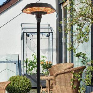 Bedste terrassevarmer med smart LED-lys og fjernbetjening