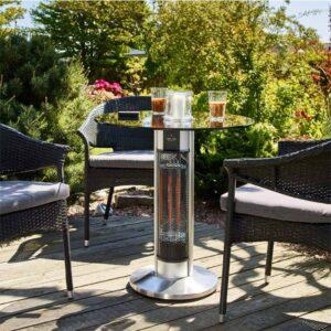 Smart cafébord med indbygget terrassevarmer