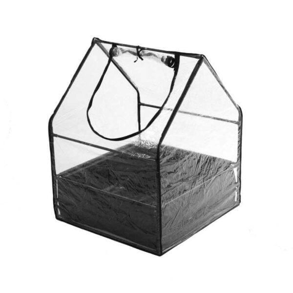 Minidrivhus med bund og lynlås
