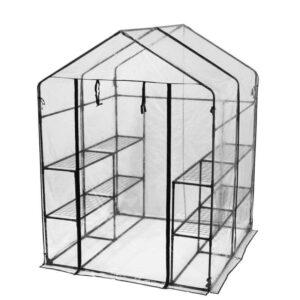 Stort plastik drivhus med 8 hylder