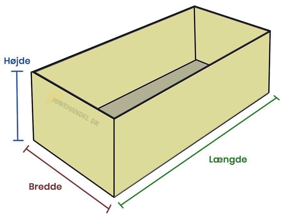 Mængdeberenger granitskærver, jord, sand, flis