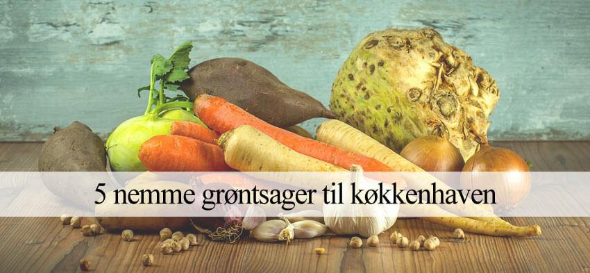 nemme grøntsager at dyrke