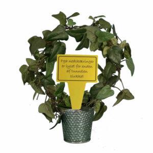sjovt planteskilt - pga nedskæringer