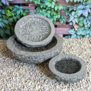 runde fuglebade i granit