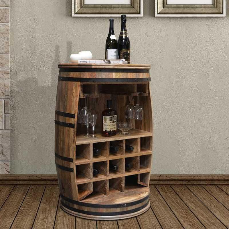 Billede af Rosey Raw stor vinreol og hjemmebar