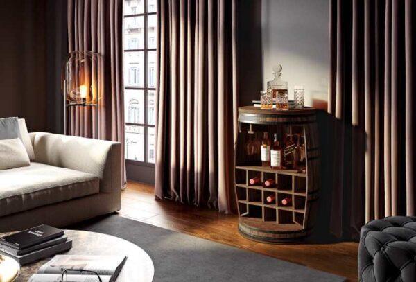 rosey vinreol og barskab i stue