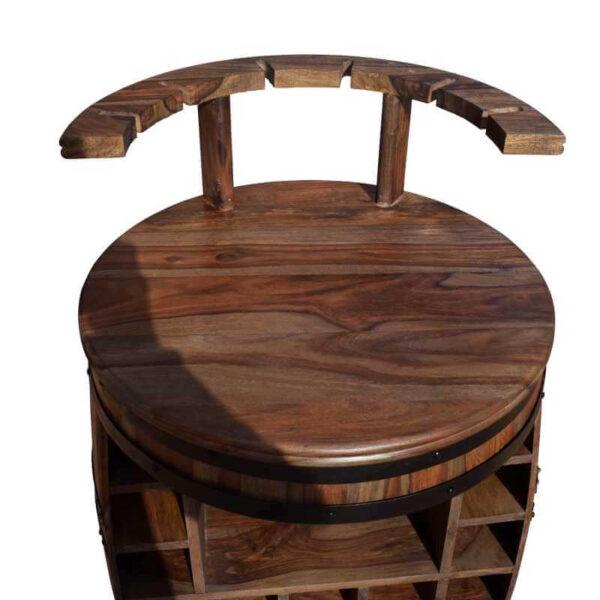 Rosey-x vinreol med bordplade og holder til vinglas