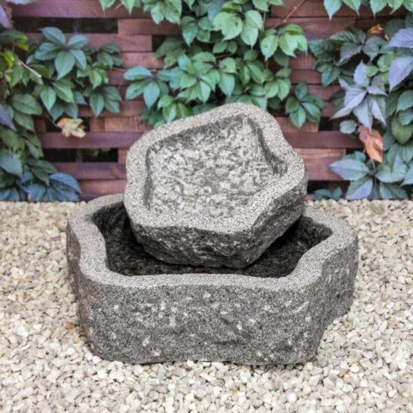 fuglebad natur granit