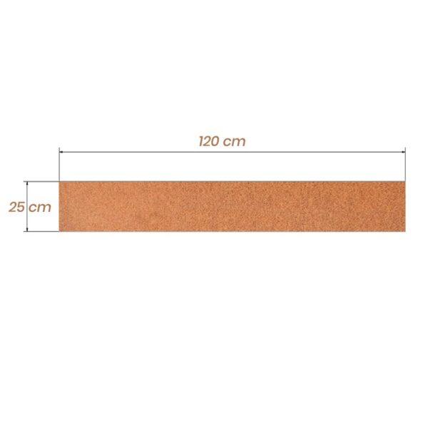 cortenstål græskant 25 cm