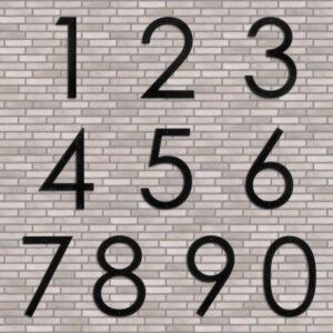 Husnummer i sort jern 30 cm