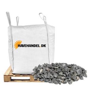Havehandel bigbag med grå granitskærver i størrelsen 11-16 mm.