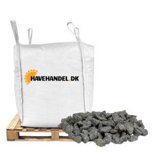 bigbag med gråsorte granitskærver i størrelse 16-22 millimeter