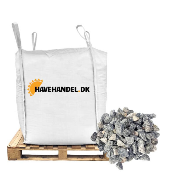 11-16 lysgrå granitskærver i bigbag